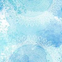 Mandala design on watercolor texture vector