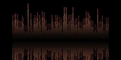 banner de ondas de sonido abstracto vector