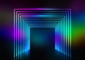 Neon tunnel effect vector