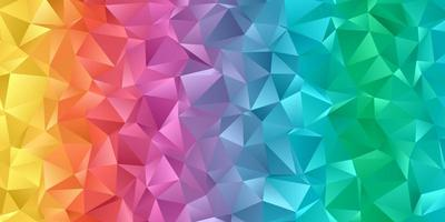 banner de baja poli de color arco iris