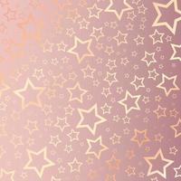 Christmas background with rose gold stars pattern