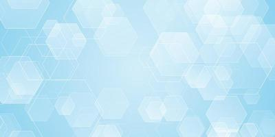 Abstract banner with hexagon shapes vector