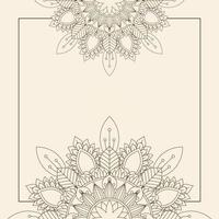 fondo decorativo con mandala floral vector