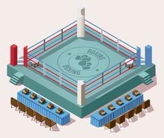 Isometric empty ring boxing arena