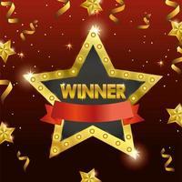 diseño de plantilla de celebración de premio con estrella vector