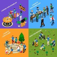 Volunteer Charity People Isometric