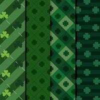 Set of clover patterns vector