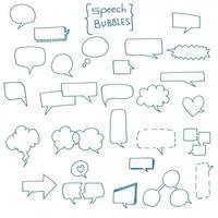 Hand Drawn Speech Bubbles vector