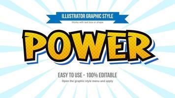 estilo de texto de dibujos animados de cómics clásicos en mayúscula naranja y azul vector