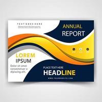 Anuual report presentation template vector