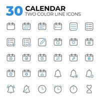 Set of Calendar Date and Time Icons