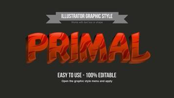 Red 3D Uppercase Tribal Pattern Text Effect vector