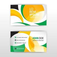 Stylish geometric shapes business card template vector