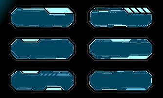 conjunto de marcos de hud futurista vector