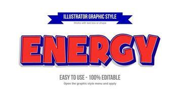 estilo de texto de dibujos animados en mayúsculas en negrita roja y azul vector