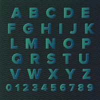 Gradient Alphabet Set with Pattern vector
