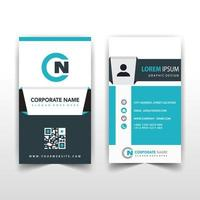 Vertical back and font business card