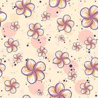 Repetitive summer background with plumeria flowers