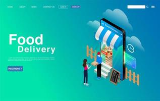 Food Delivery Service Concept Banner