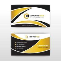 Luxury black and gold business card template