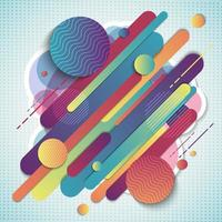 Abstract colorful geometric composition pattern vector
