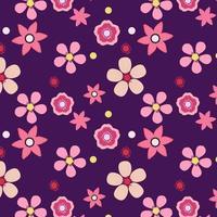 Purple Floral Pattern Design vector
