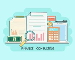 Banner for business and finance vector