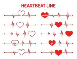 Red Heart Rate Exercising Graph Set