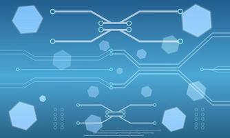 diseño de placa de circuito hexagonal de alta tecnología abstracta vector