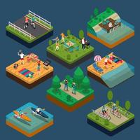 Summer Outdoor Activity People Composition vector