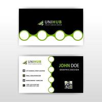 Business card with abstract circular shapes