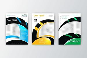 Annual report flyer collection vector