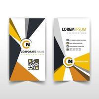 Multicolor corporate card template vector