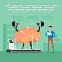 cerebro de formación empresario en laboratorio