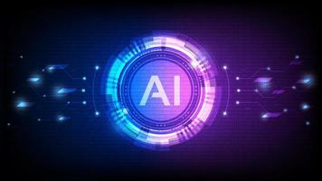 Hologram Artificial Intelligence Design vector