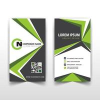Green angles corporate card template