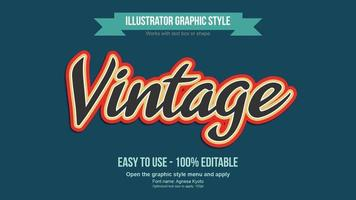 Black Red and Yellow Vintage Colorful Editable Text Effect vector