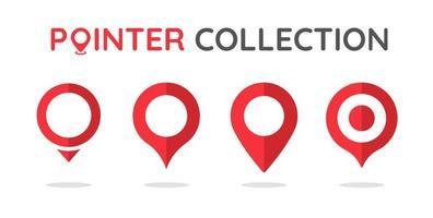 conjunto de pin de ubicación rojo vector