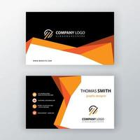 Orange shapes business card template vector