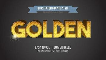 Golden Dotted Pattern Luxury  Editable Text Effect vector