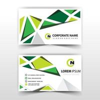 Abstract triangular shapes business card template vector