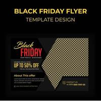 Black Friday Advertising Postcard vector