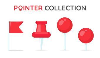 colección de pin de ubicación roja vector