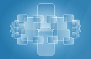 Abstract blue geometric overlay background