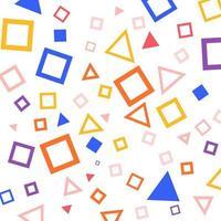 padrão quadrado geométrico colorido vetor