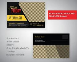 Black Friday Postcard Template vector