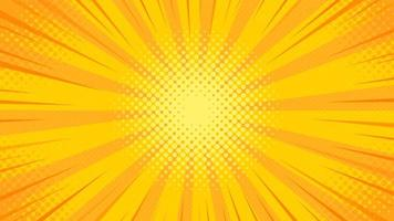 Pop Art Background with Yellow Light Scattered from Center vector