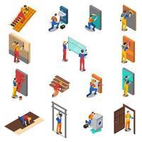 Home Repair Worker People Isometric vector