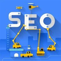 Seo concept construction site design