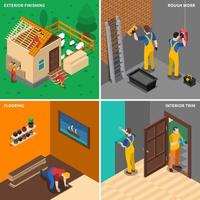 Home Repair Worker People vector